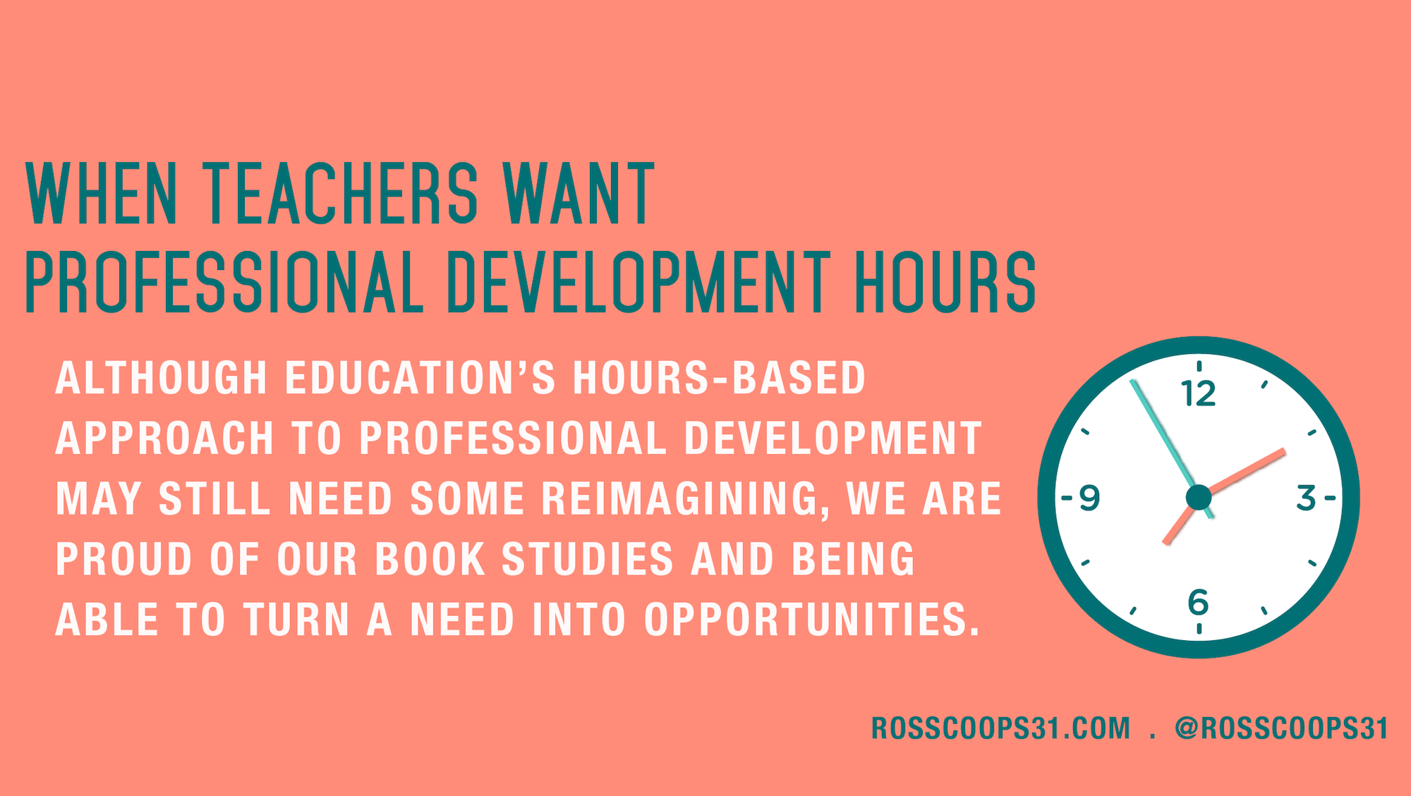 When Teachers Want Professional Development Hours - Cooper on ...